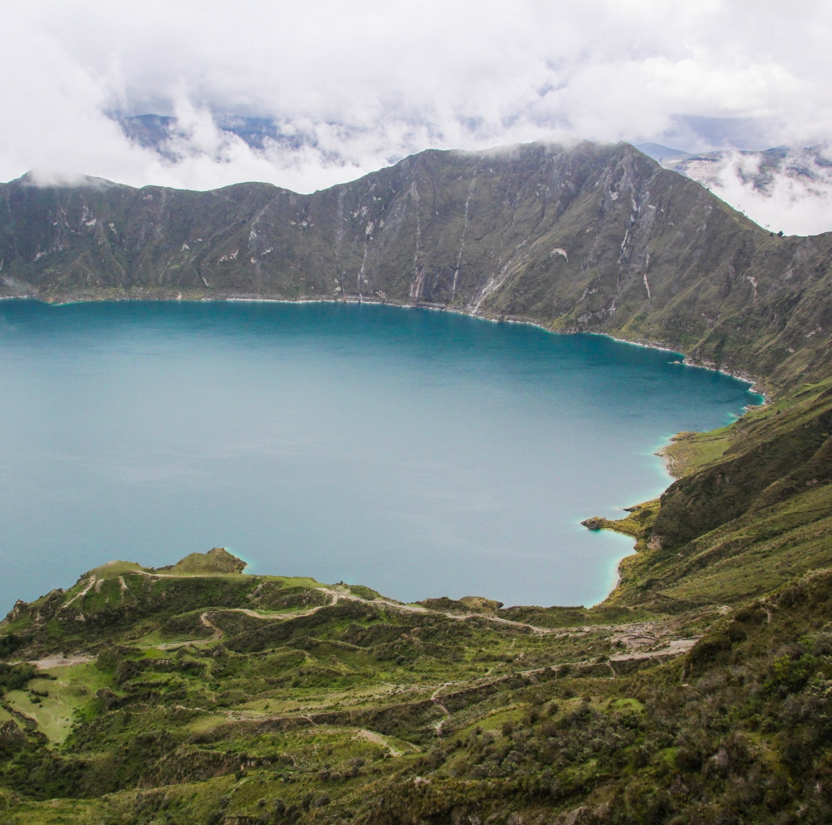 Quilotoa Lagoon, Ecuador {Katie at the Kitchen Door}