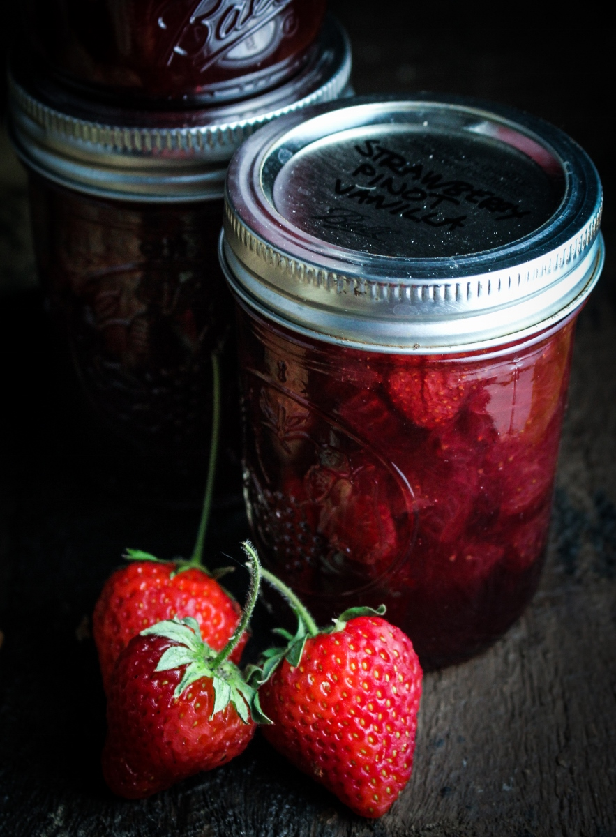 Strawberry, Pinot Noir, and Vanilla Jam {Katie at the Kitchen Door}