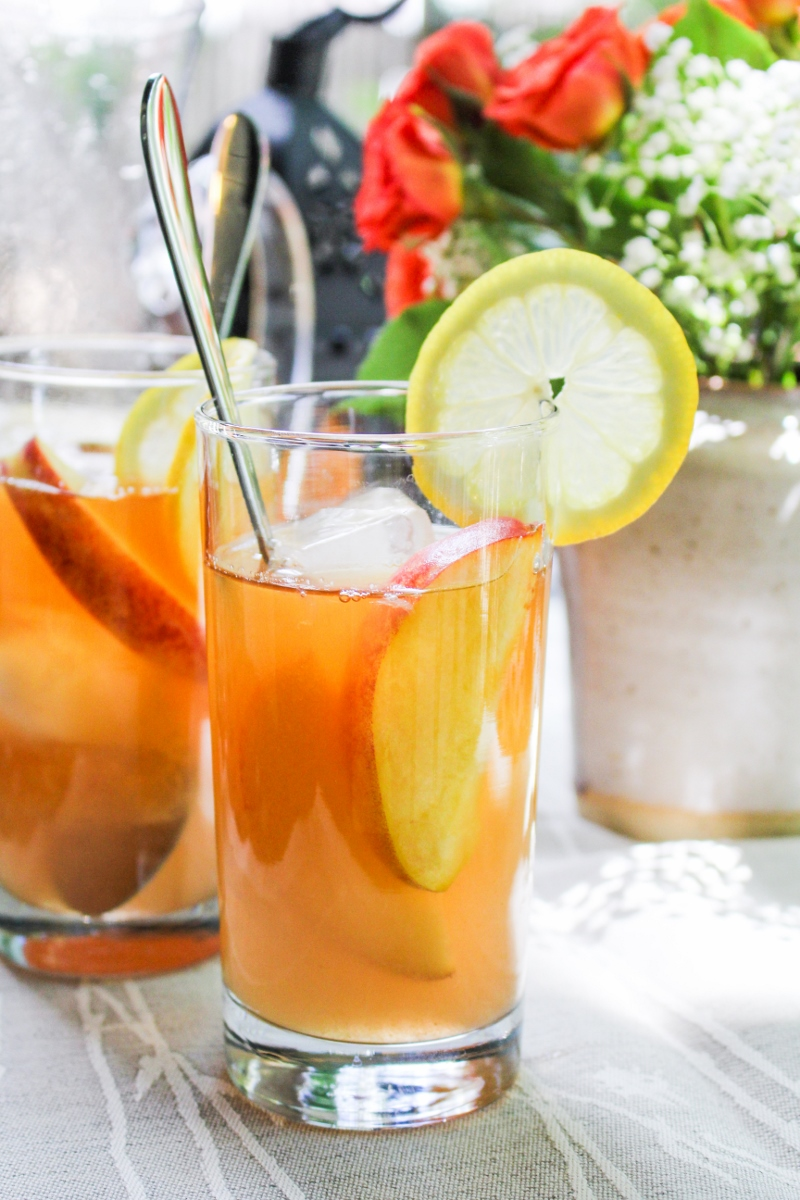 Peach Arnold Palmer {Katie at the Kitchen Door}