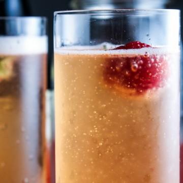 Strawberry Champagne Shrub {Katie at the Kitchen Door}