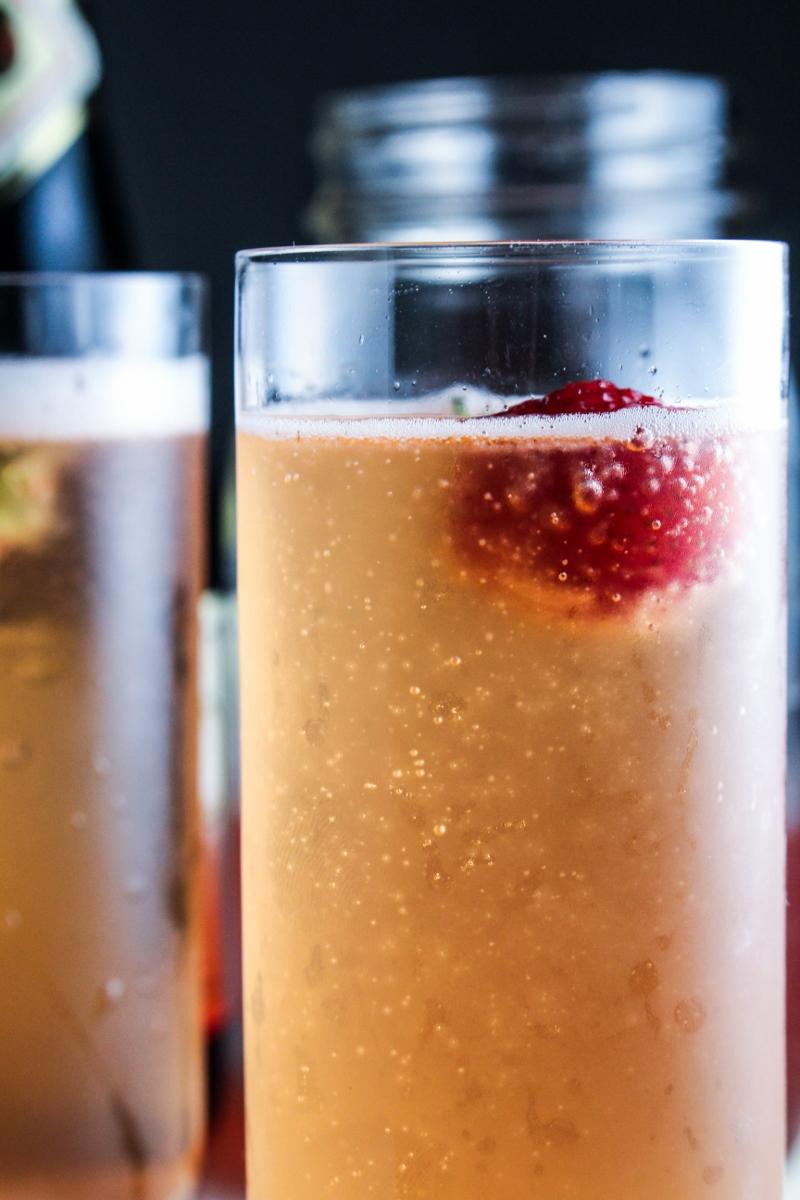 Ingredient of the Week: Strawberries // Strawberry Champagne Shrub