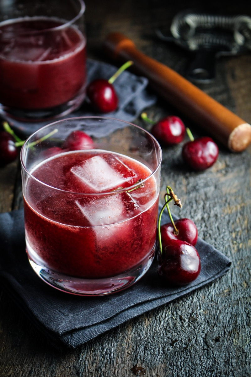 Cherry-Chocolate Bourbon Soda | Refreshing Homemade Soda Recipes Perfect This Summer | soda syrup recipes
