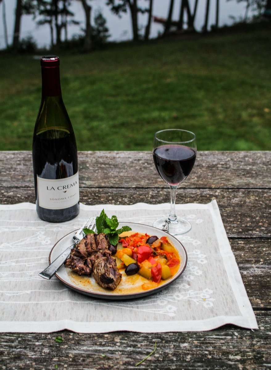 Grilled Leg of Lamb with Ratatouille {Katie at the Kitchen Door}
