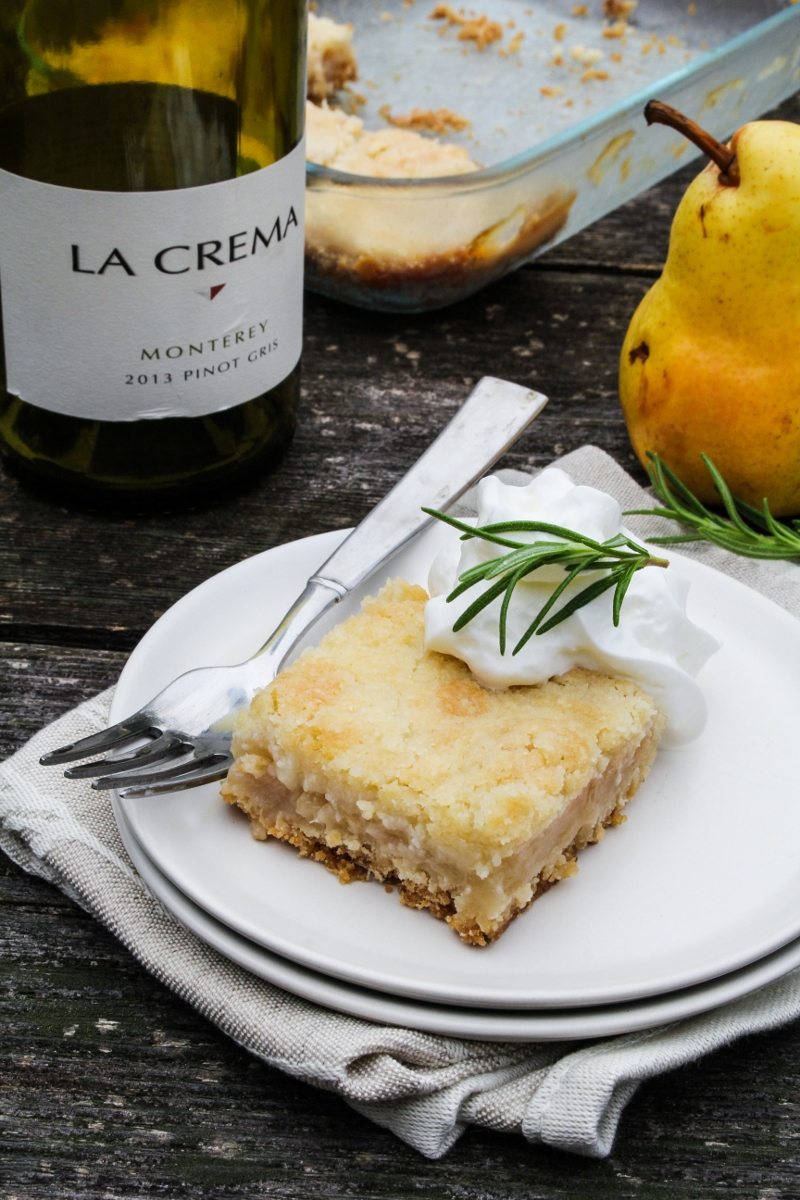 Rosemary Pear Crumble Bars {Katie at the Kitchen Door}