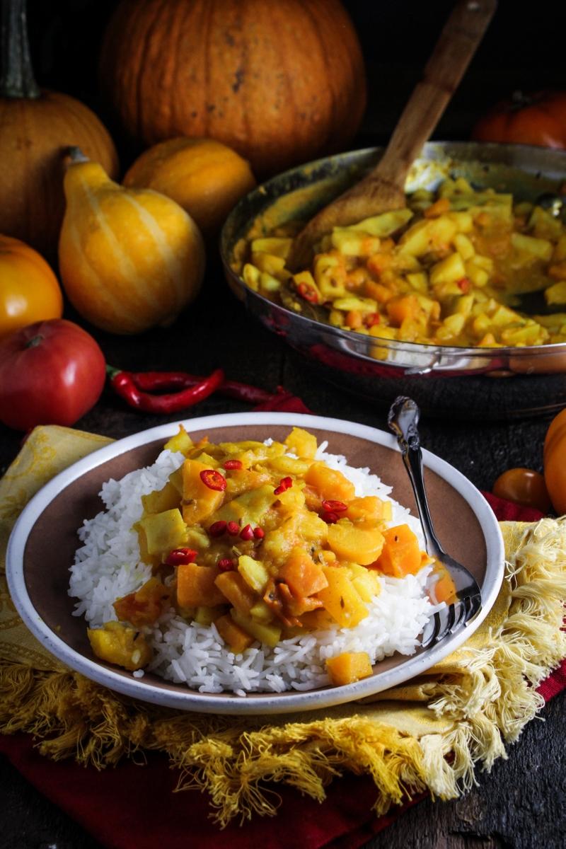 Bangladeshi Yellow Pumpkin Curry {Katie at the Kitchen Door}