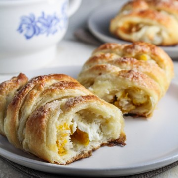 Pumpkin Butter and Cream Cheese Danishes {Katie at the Kitchen Door}