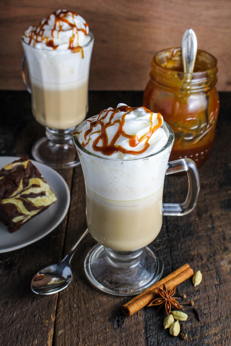 Salted Caramel Chai Lattte {Katie at the Kitchen Door}