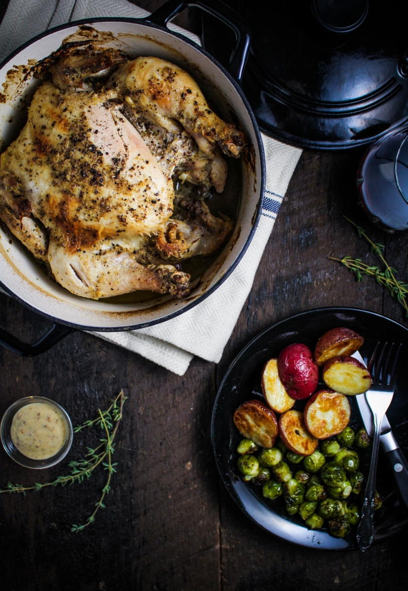 Book Club: A Kitchen in France // Mustard-Roasted Poussins