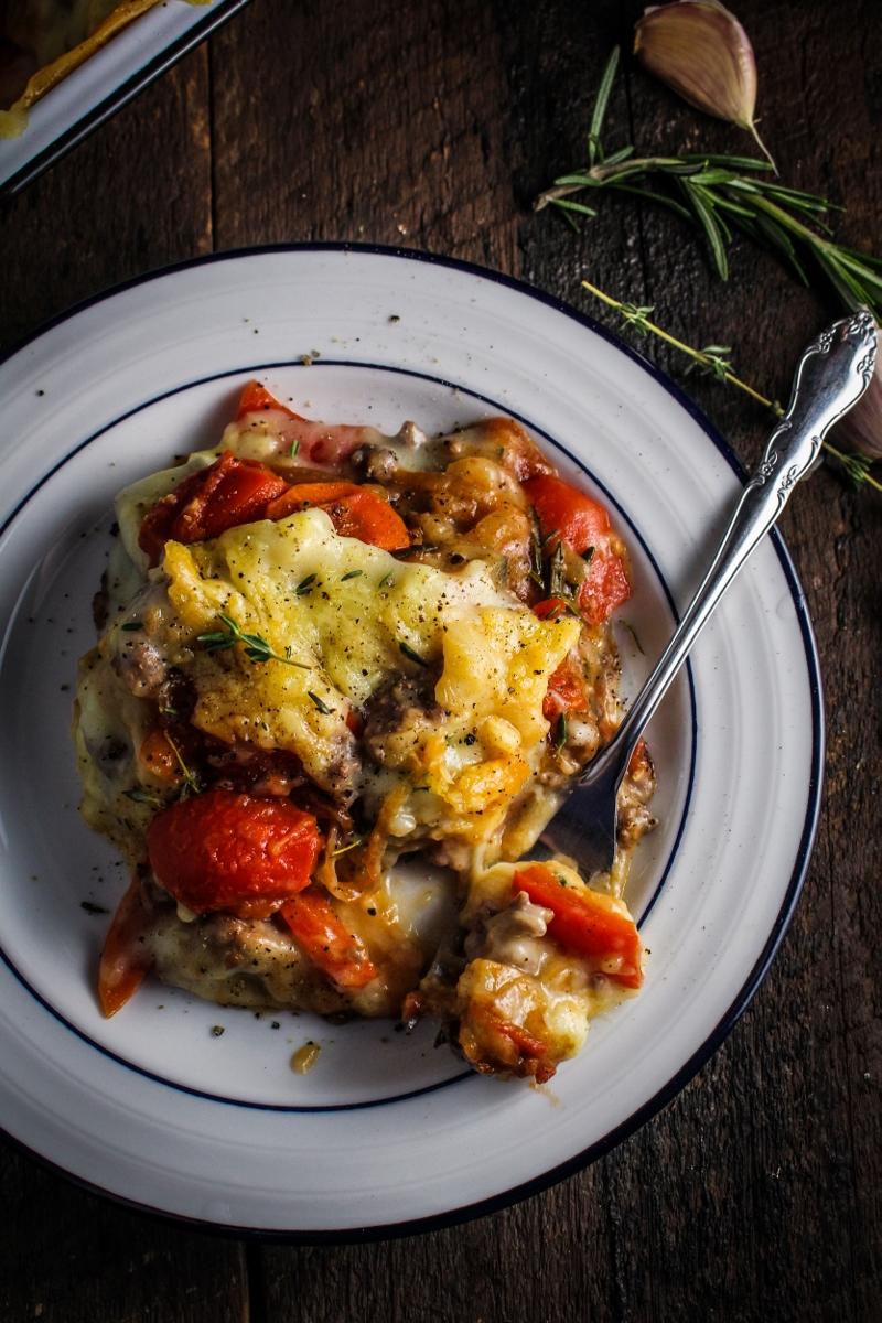Book Club: French Comfort Food // Ratatouille Shepherd\'s Pie - Katie ...