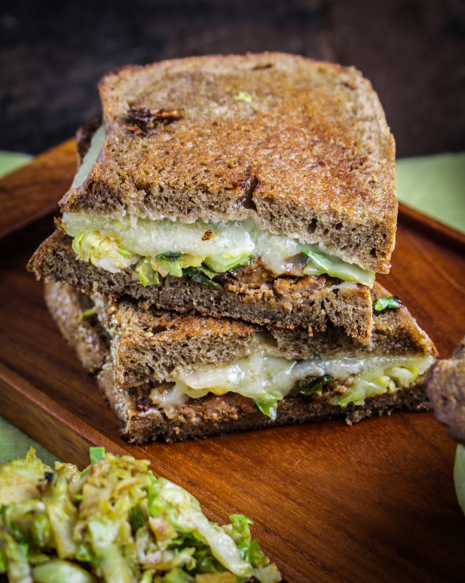 Brussels Sprout and Chorizo Grilled Cheese