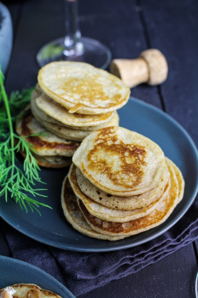 Rye and Caraway Blini {Katie at the Kitchen Door}