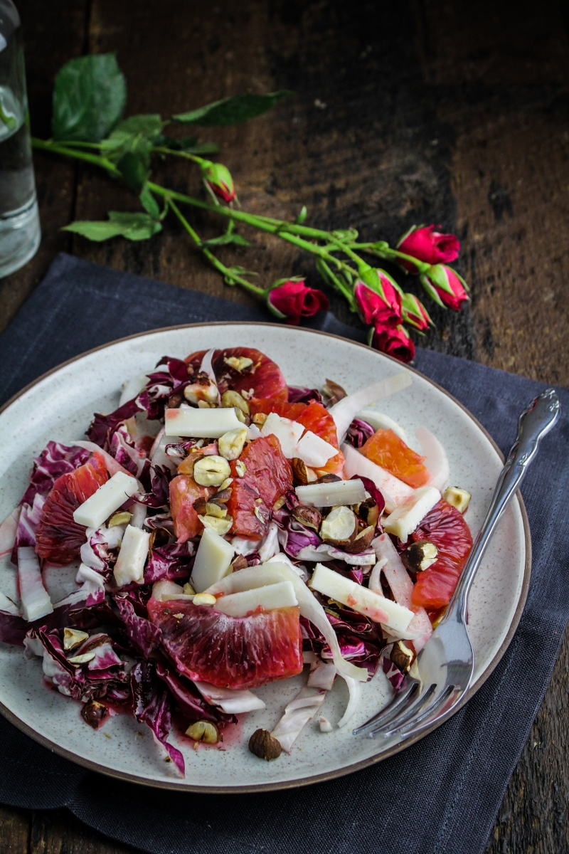 Blood Orange, Endive, and Radicchio Salad {Katie at the Kitchen Door} #valentines