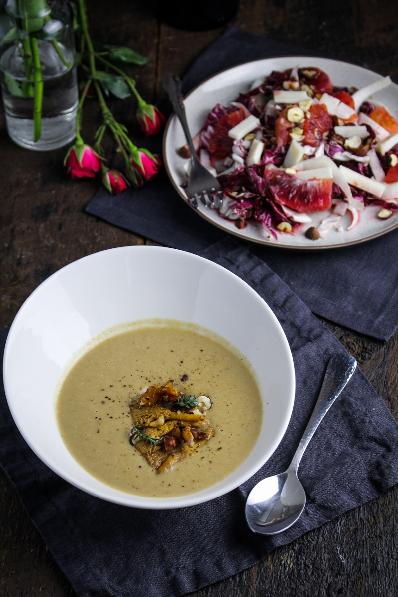 Chestnut and Chanterelle Bisque {Katie at the Kitchen Door} #valentines