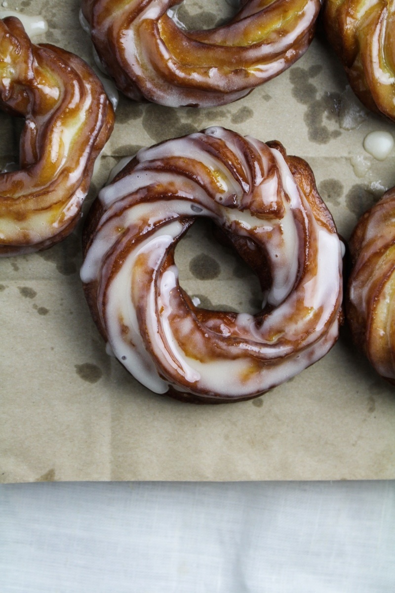 Apple Cider French Crullers {Katie at the Kitchen Door}