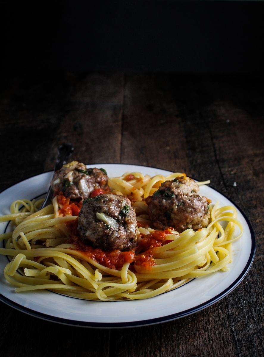Perfect Spaghetti and Meatballs {Katie at the Kitchen Door}