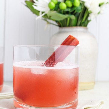Rhubarb Bourbon Sour {Katie at the Kitchen Door}