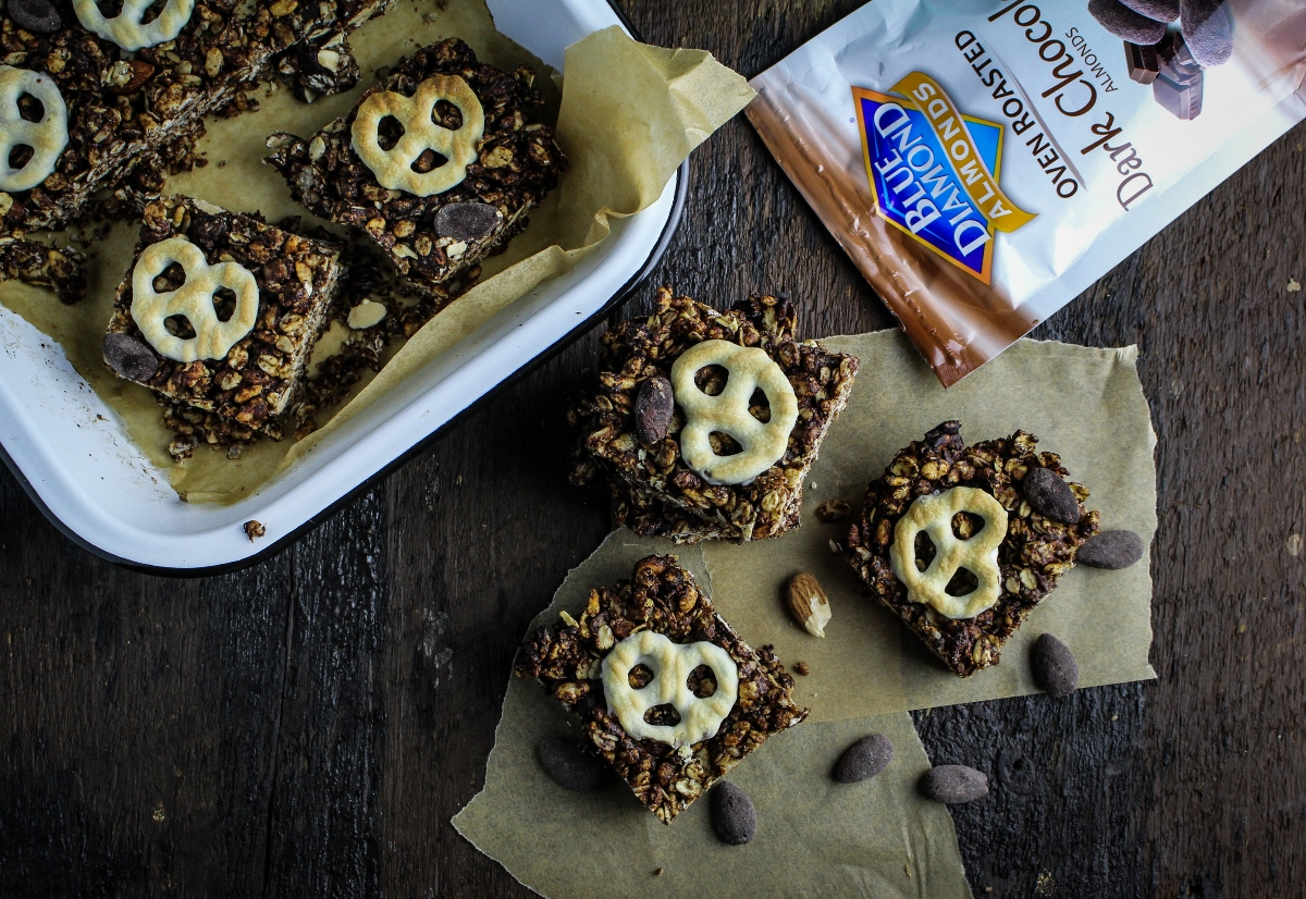 Chocolate Almond Granola Bites {Katie at the Kitchen Door}