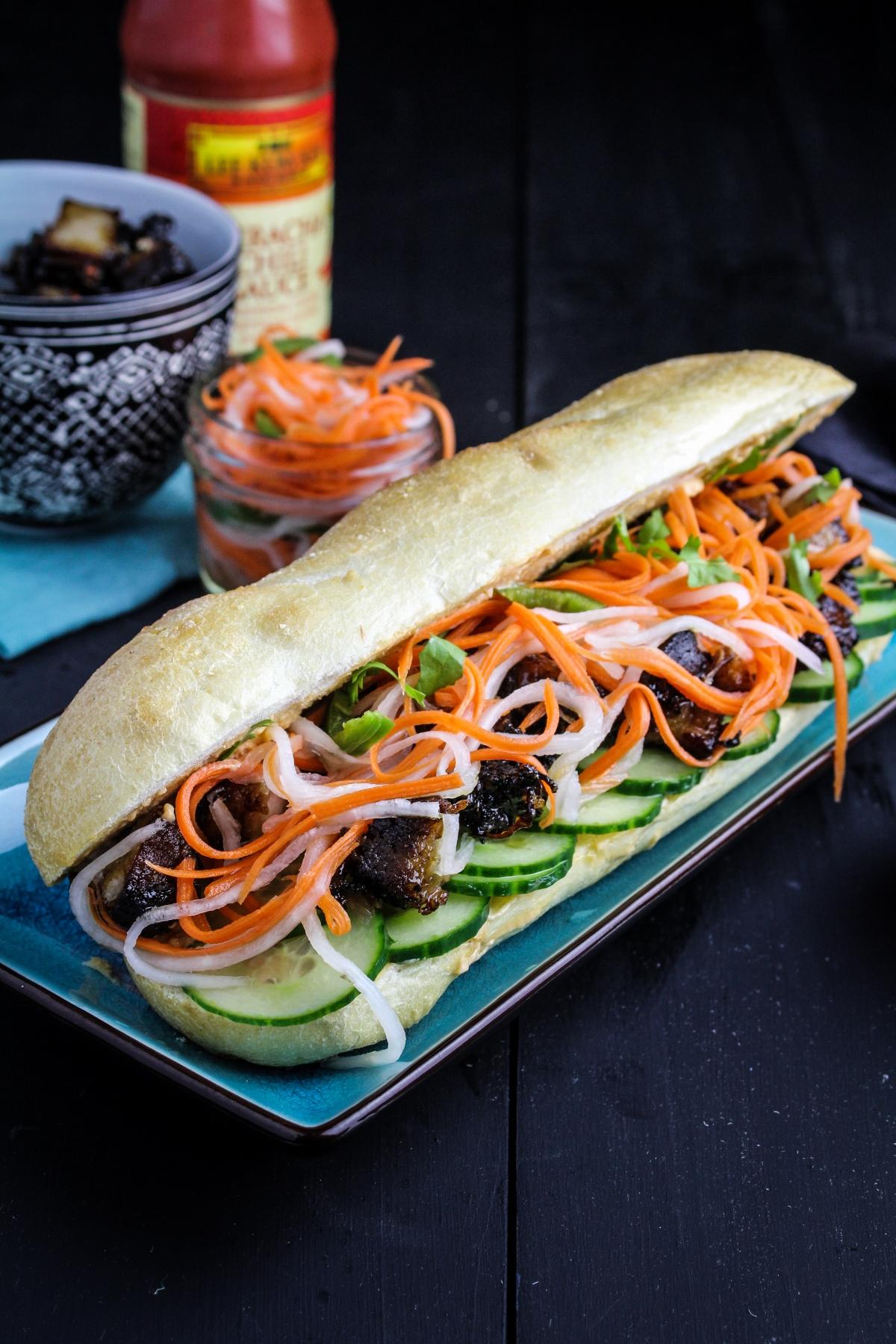 Pork Belly Bánh Mì {Katie at the Kitchen Door}