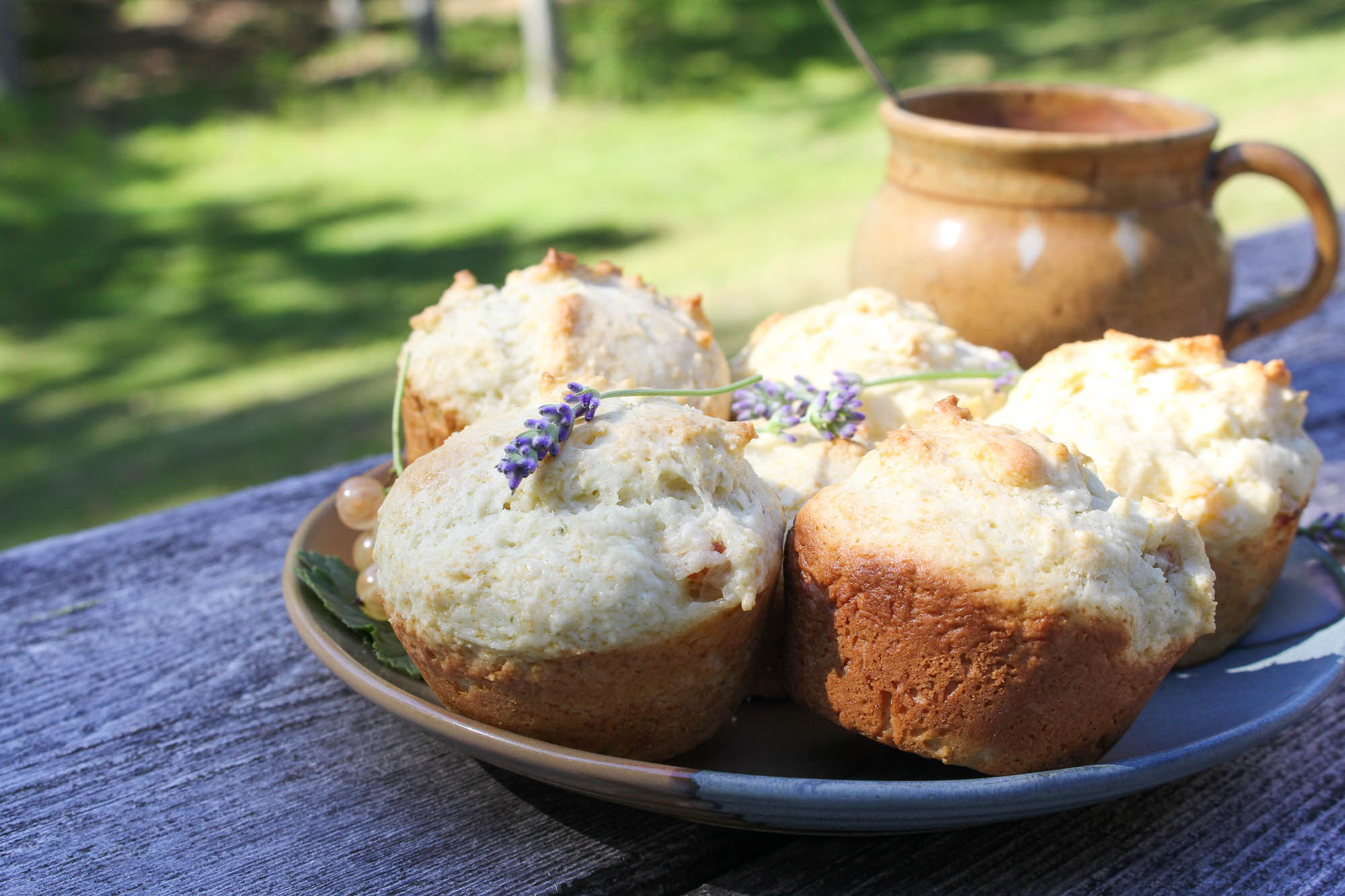 Lavender and White Currant Muffins {Katie at the Kitchen Door}