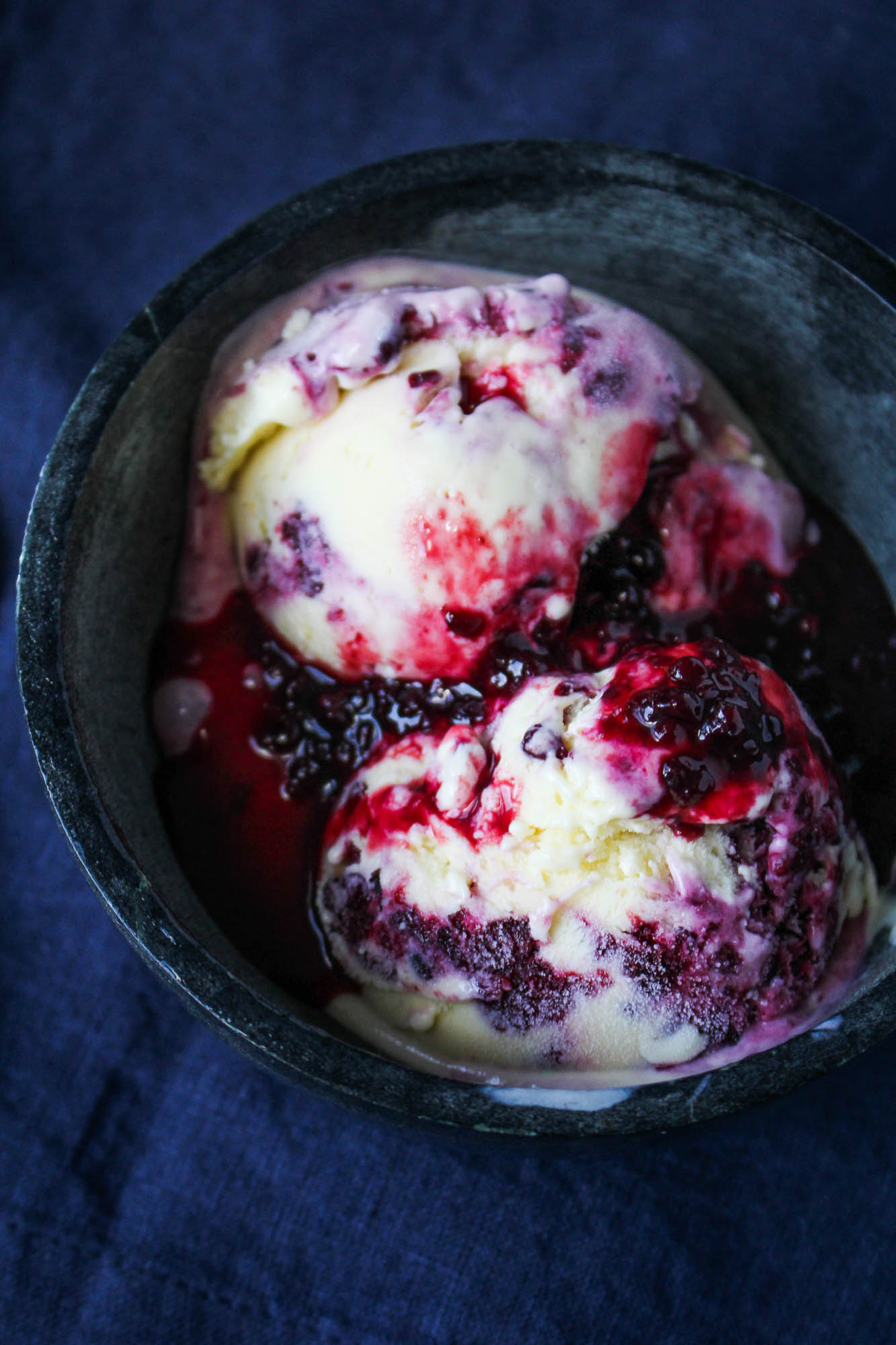 Kitchen Update // Goat Cheese Ice Cream with Blackberry Red Wine Swirl