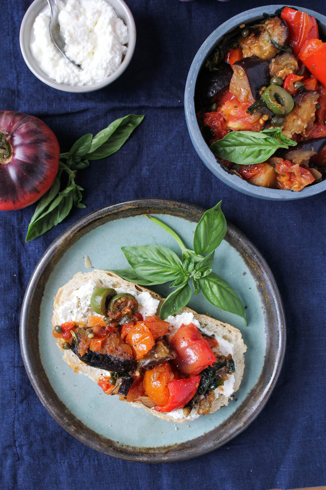 Sicilian Eggplant Caponata {Katie at the Kitchen Door}