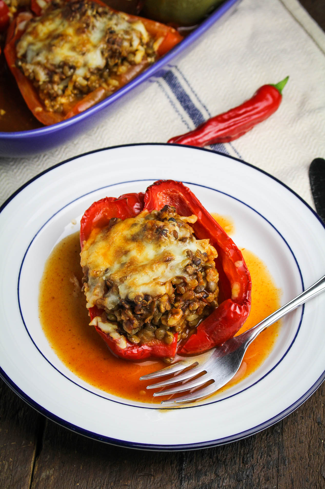 Old El Paso Back-to-School // Enchilada-Style Vegetarian Stuffed Peppers