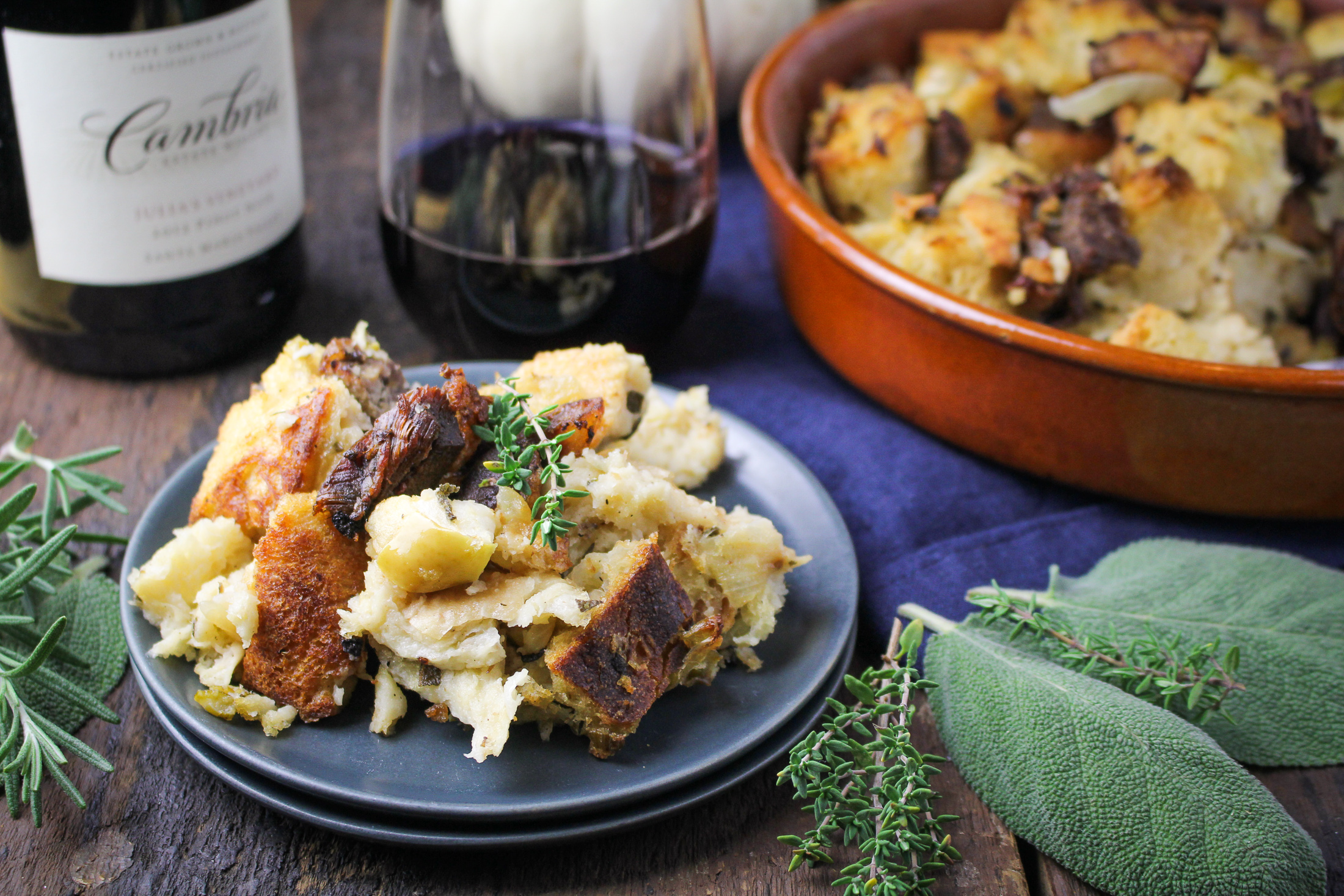 Duck Confit and Apple Stuffing {Katie at the Kitchen Door}