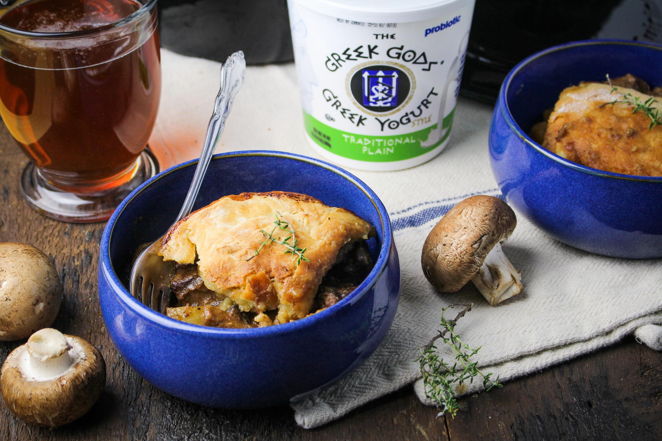 Beef, Mushroom, and Ale Pot Pie {Katie at the Kitchen Door} #sponsored