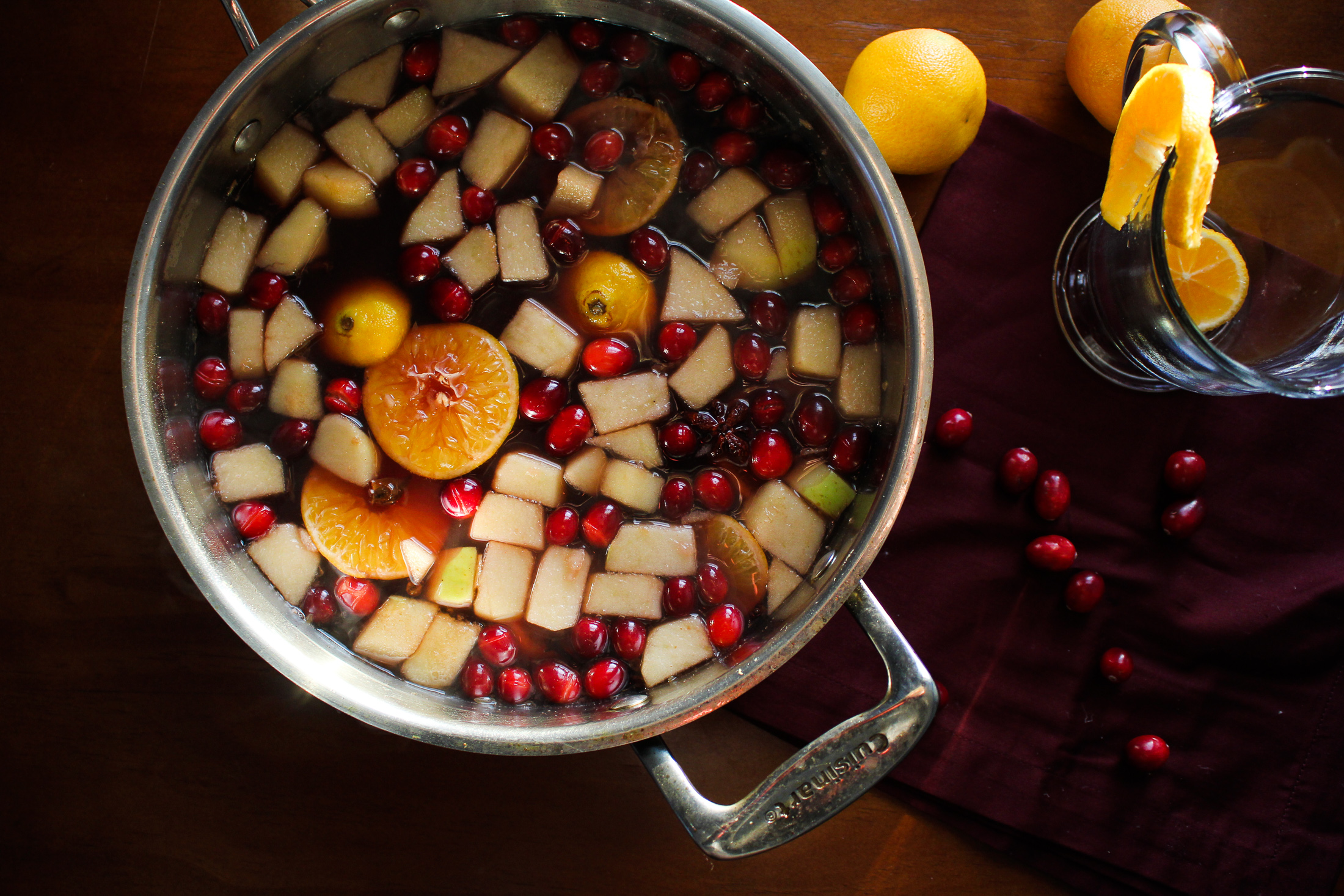 Winter Stillness // Mulled Spiked Cider with Port and Cranberries