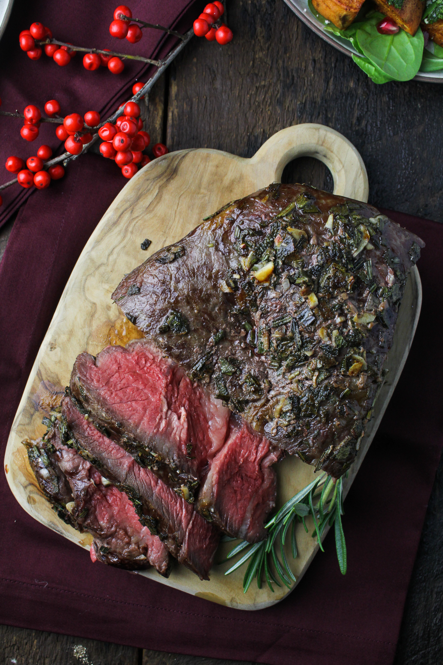 Sunday Dinner: Rosemary-and-Sage-Crusted Roast Beef {Katie at the Kitchen Door}