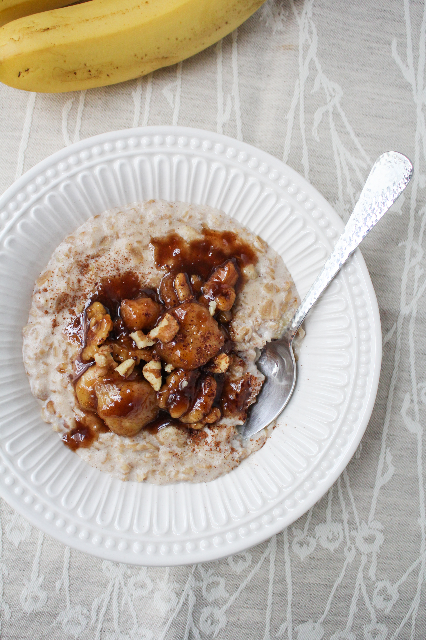 January Fitness Goal // Bananas Foster Oatmeal