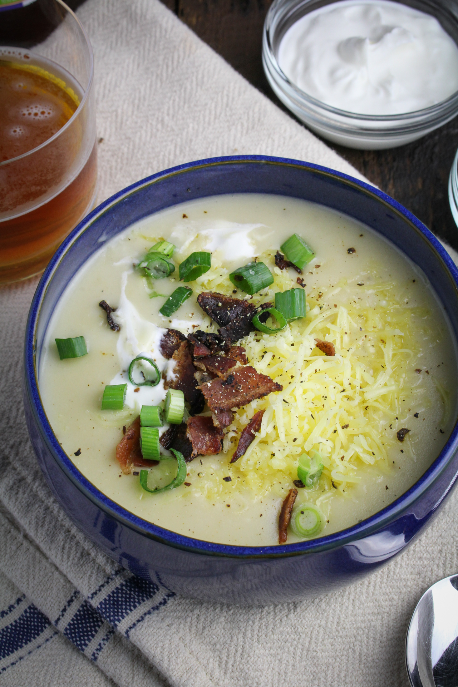 Loaded Baked Potato Soup {Katie at the Kitchen Door}