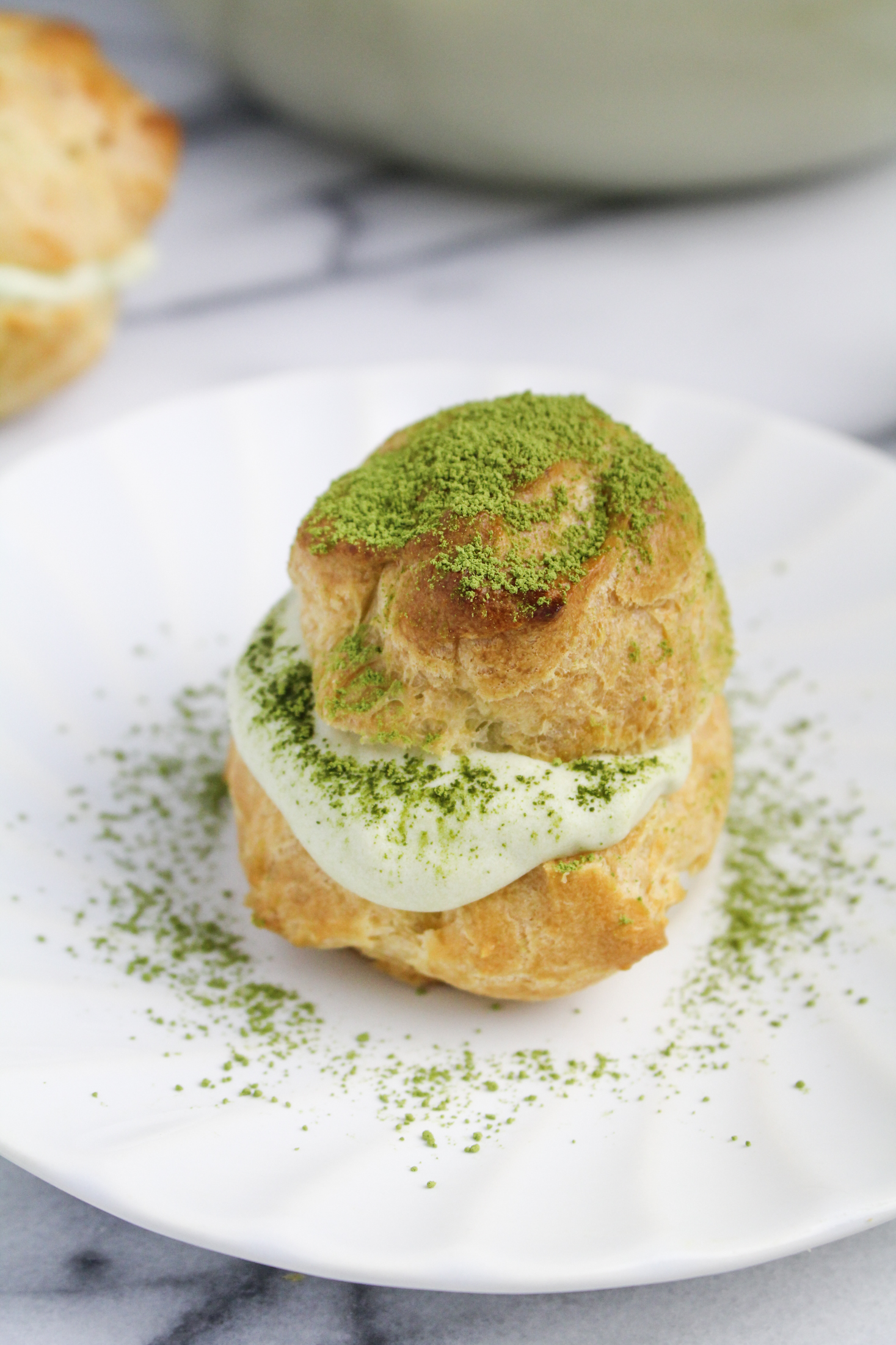 Matcha Cream Puff {Katie at the Kitchen Door}