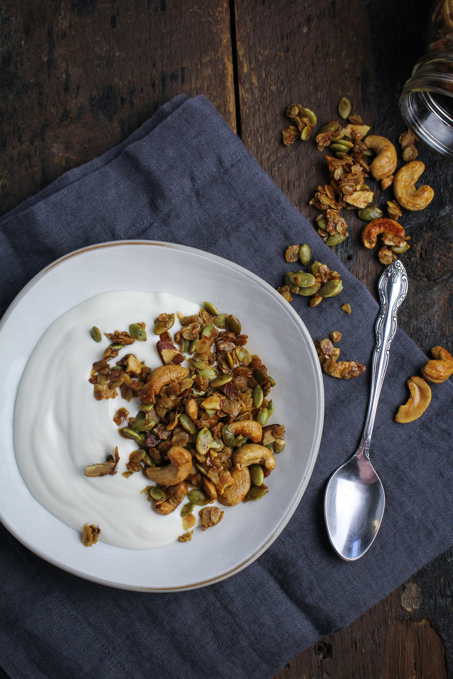 Vanilla-Cashew Granola {Katie at the Kitchen Door}