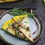 Polenta Pizza with Wild Mushrooms and Ramp Pesto
