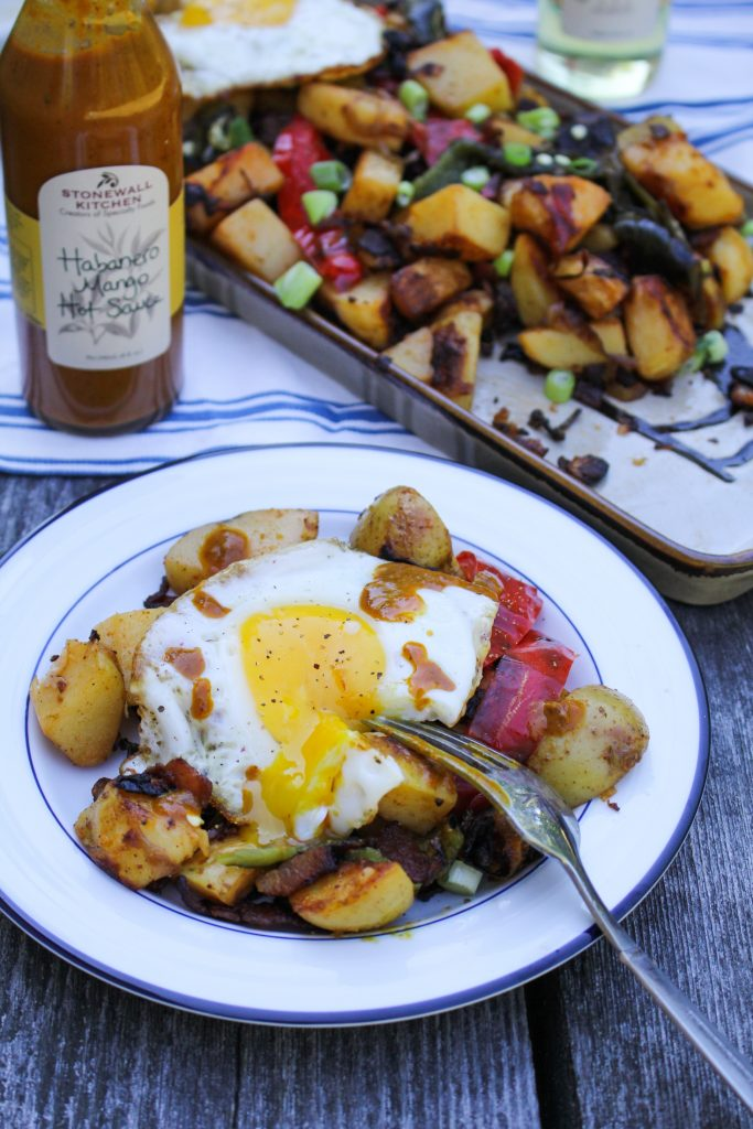 Smoky Roasted Garlic Potato Hash {Katie at the Kitchen Door} #ad