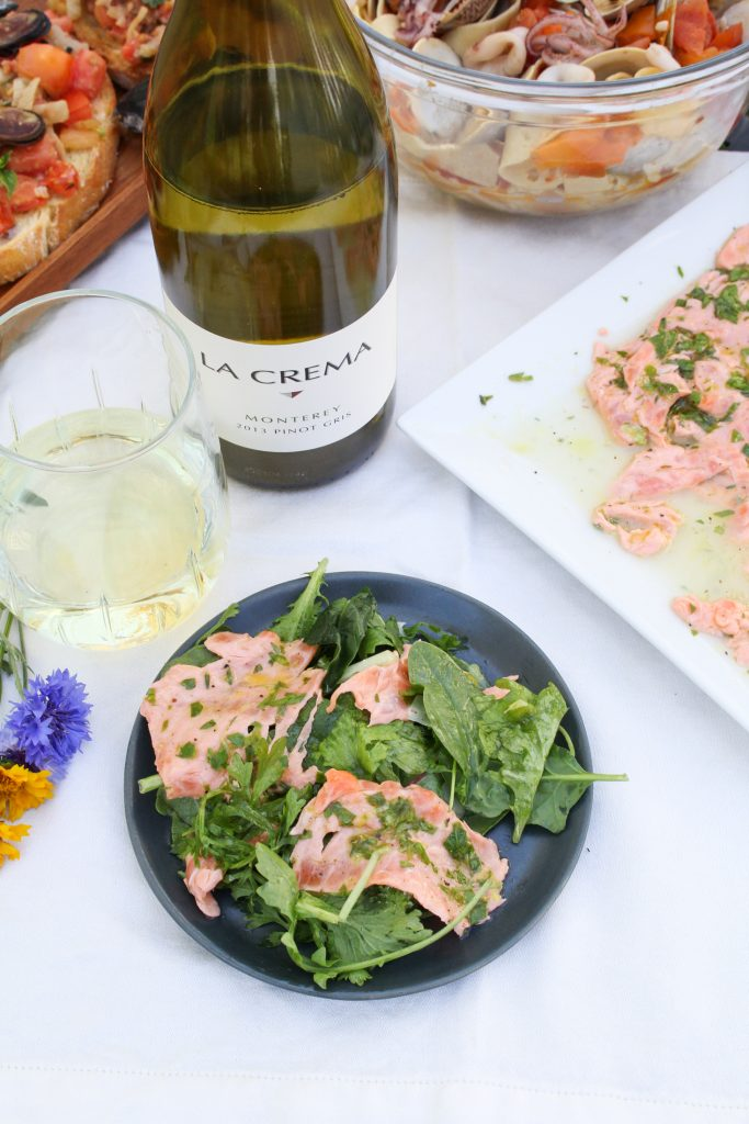 Italian Salmon Carpaccio {Katie at the Kitchen Door}