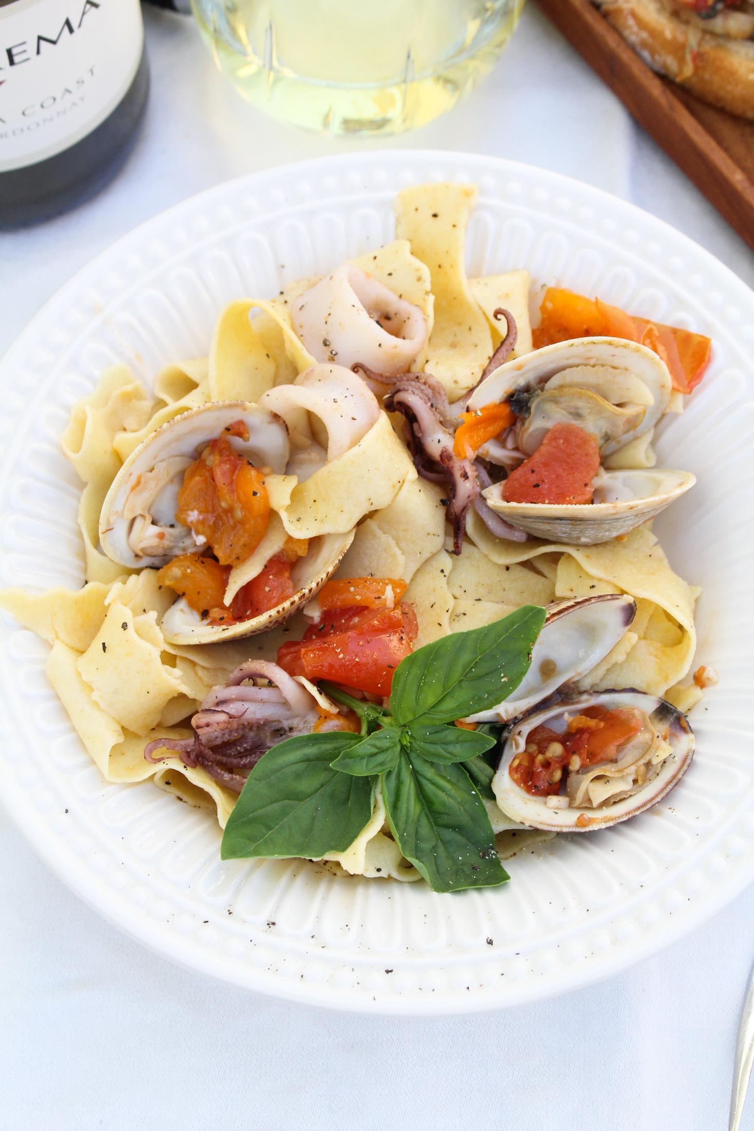 Italian Seafood Dinner with La Crema