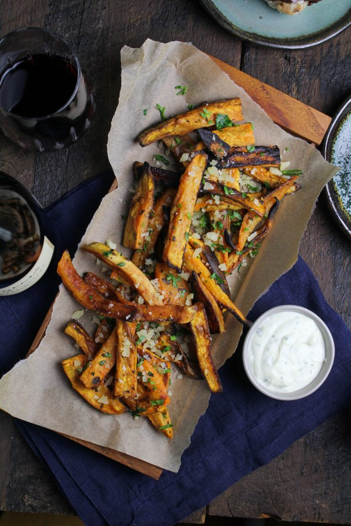 Greek-Style Sweet Potato Fries {Katie at the Kitchen Door}