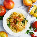 Heirloom Tomato and Sweet Onion Pasta
