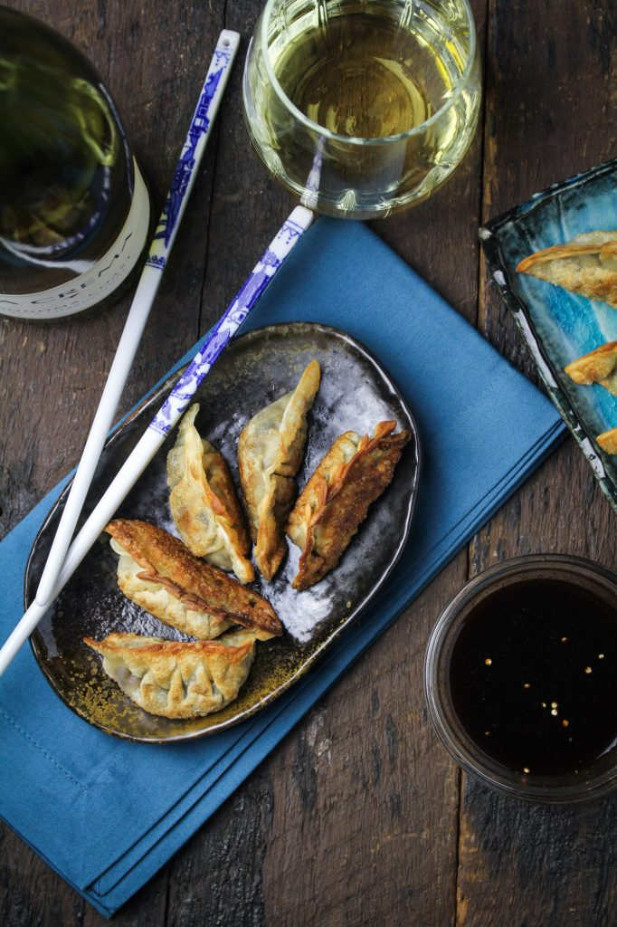 Vegetarian Lentil and Mushroom Mandu {Katie at the Kitchen Door}