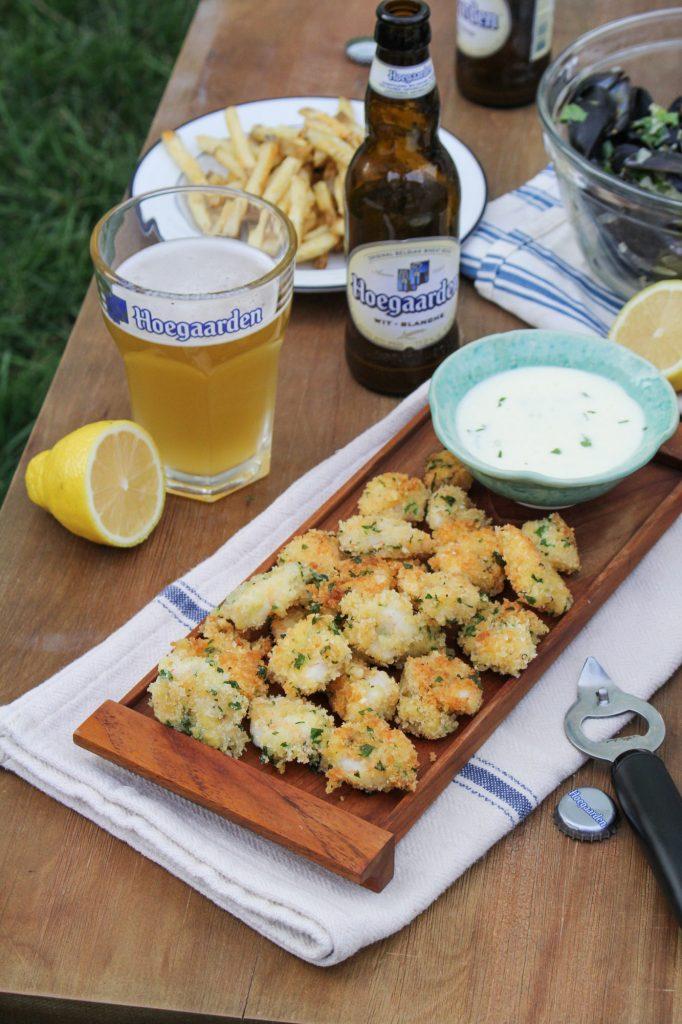 Paprika-Dusted Popcorn Shrimp with Lemon Aioli {Katie at the Kitchen Door} #itsWHOgaarden #sponsored