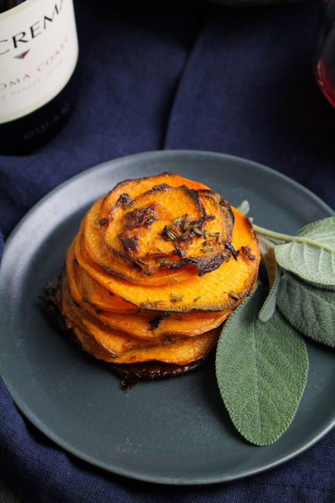 Chipotle Sweet Potato Pommes Anna {Katie at the Kitchen Door}