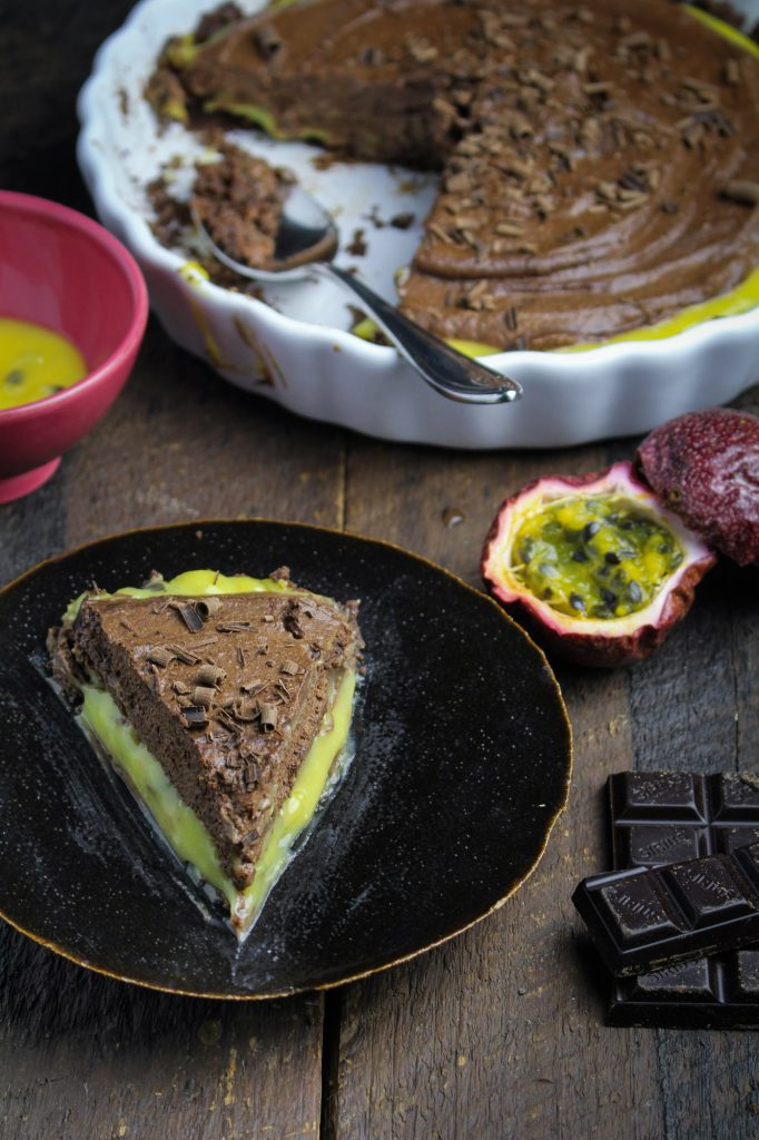 Chocolate Mousse and Passion Fruit Pie {Katie at the Kitchen Door}
