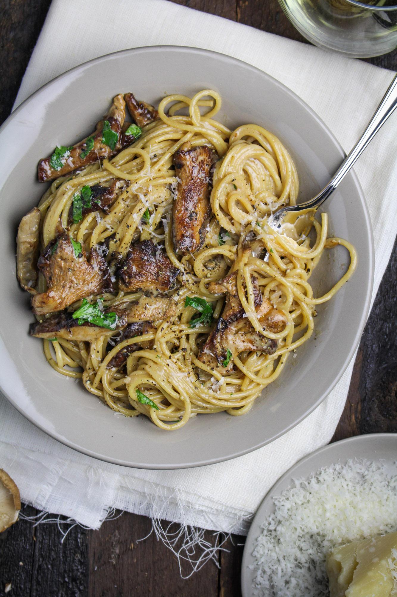 Creamy Mushroom Pasta {Katie at the Kitchen Door}