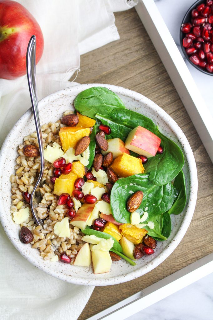 Butternut Squash and Apple Buddha Bowl {Katie at the Kitchen Door}