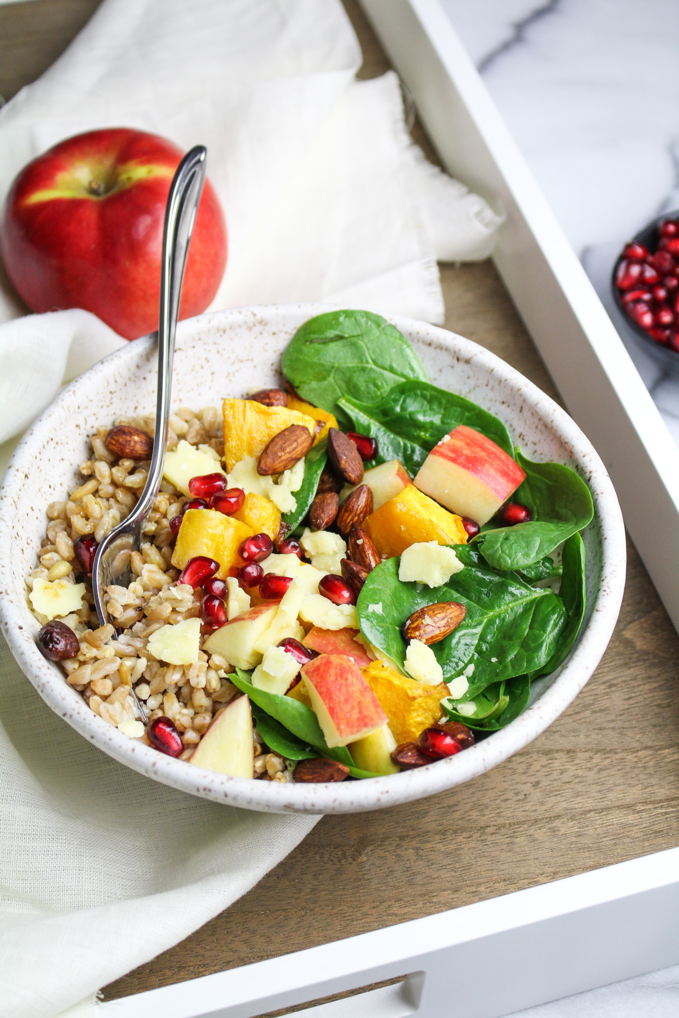 Butternut Squash and Apple Buddha Bowl #EatSmarterMoveMore