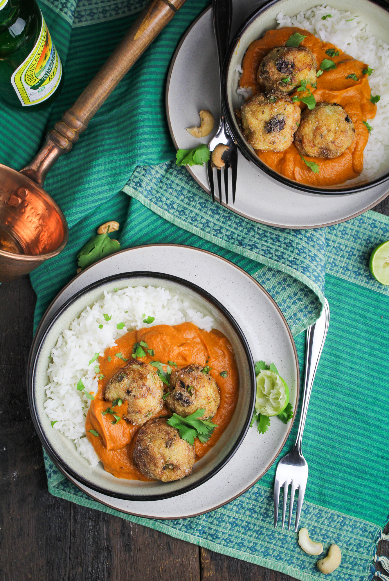 Malai Kofta - Vegetarian Potato-Paneer Balls in Tomato Cream Curry ...