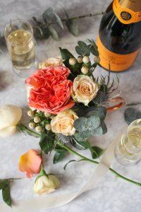 DIY Wedding Flowers: Garden Roses, Spray Roses, Eucalyptus, Hypericum {Katie at the Kitchen Door}