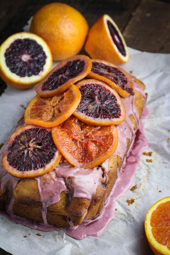 Blood Orange and Olive Oil Pound Cake {Katie at the Kitchen Door}